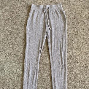 grey sweatpants with strings from gymshark